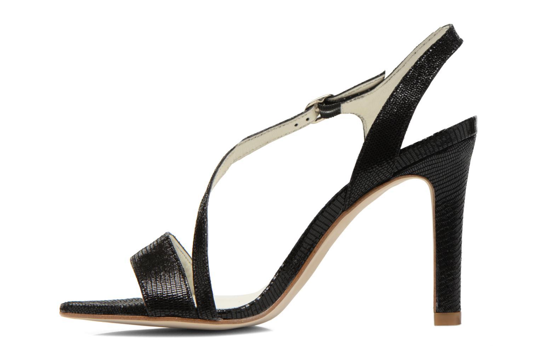 Sandales et nu-pieds Georgia Rose Eluje Noir vue face