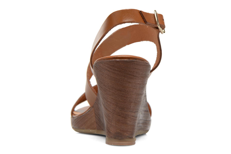 Sandales et nu-pieds Georgia Rose Ecarme Marron vue droite