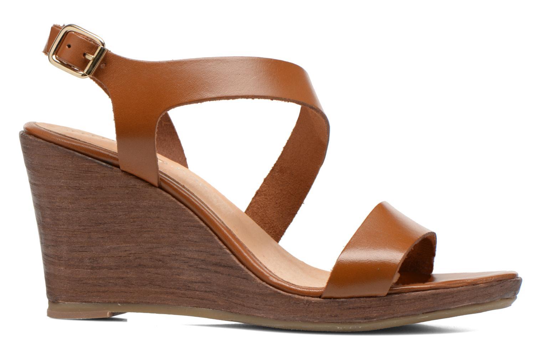 Sandales et nu-pieds Georgia Rose Ecarme Marron vue derrière