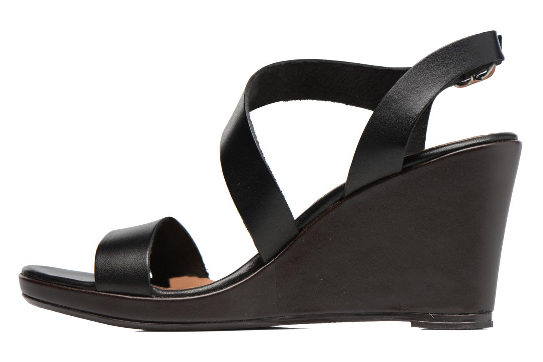 Sandales et nu-pieds Georgia Rose Ecarme Noir vue face