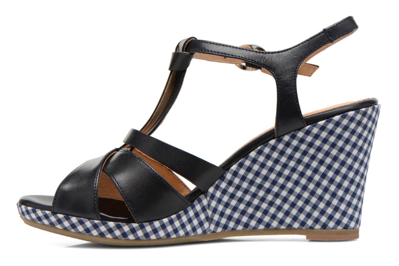 Sandales et nu-pieds Georgia Rose Ehourque Bleu vue face