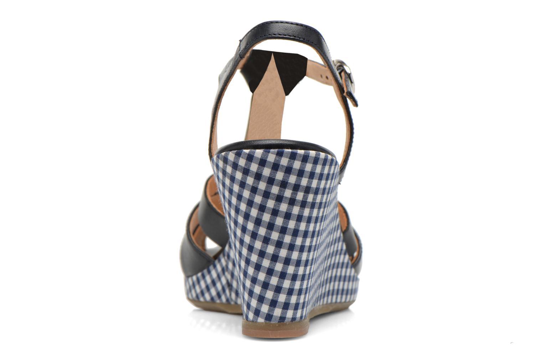 Sandales et nu-pieds Georgia Rose Ehourque Bleu vue droite