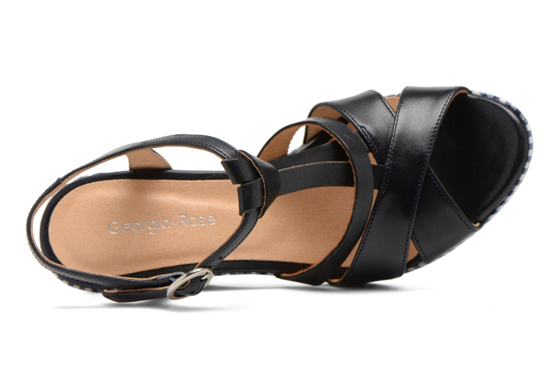 Sandales et nu-pieds Georgia Rose Ehourque Bleu vue gauche