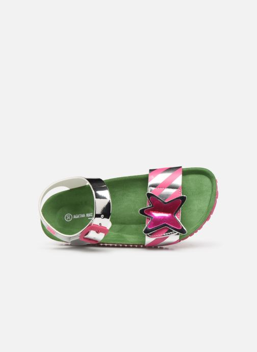Sandals Agatha Ruiz de la Prada Bio Agatha Silver view from the left