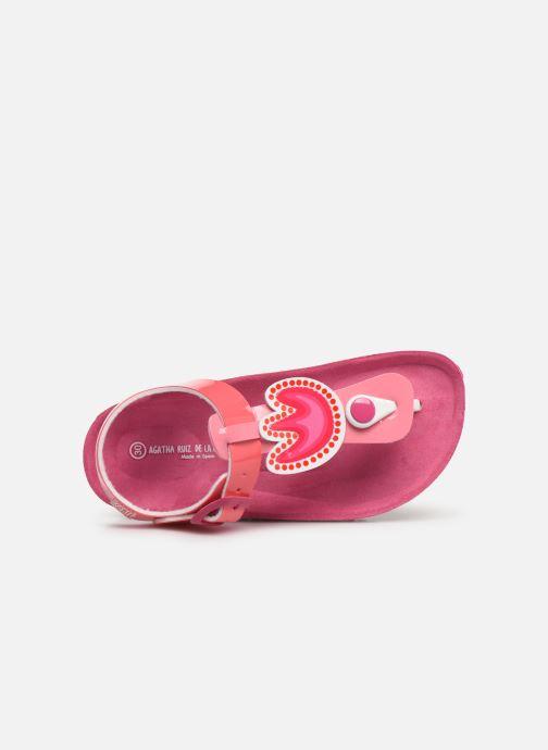 Sandali e scarpe aperte Agatha Ruiz de la Prada Bio Agatha Rosa immagine sinistra
