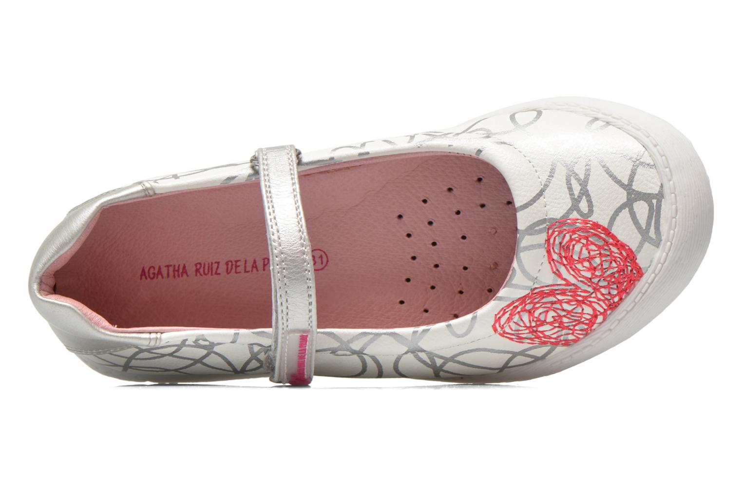 Ballet pumps Agatha Ruiz de la Prada Mira White view from the left