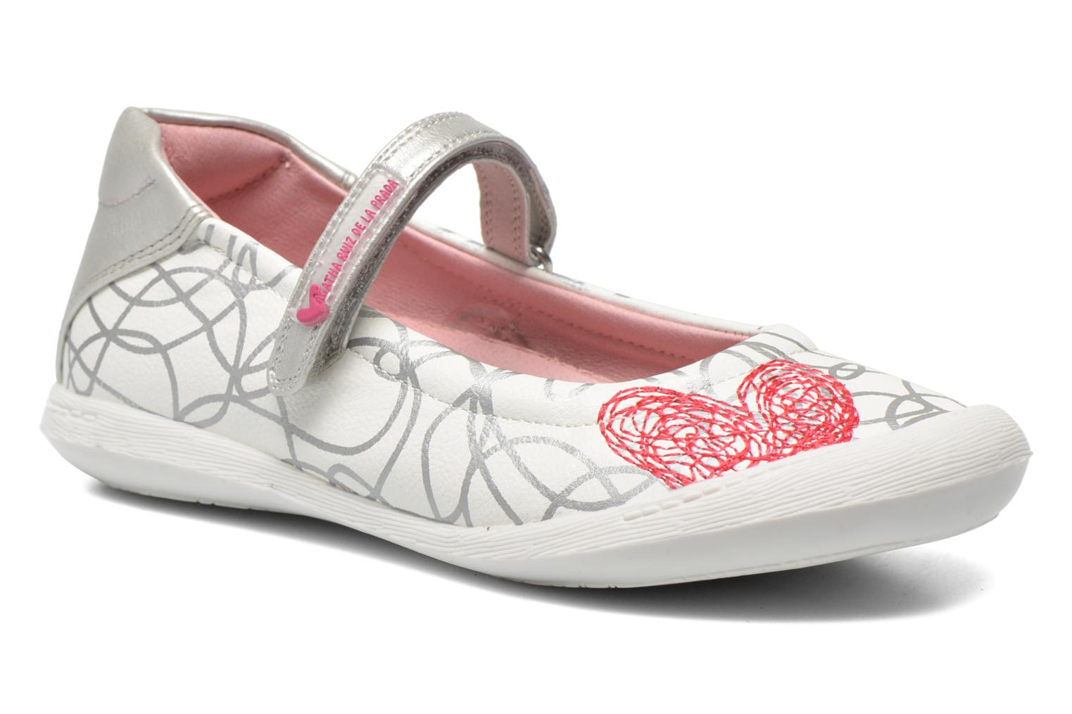 Ballet pumps Agatha Ruiz de la Prada Mira White detailed view/ Pair view