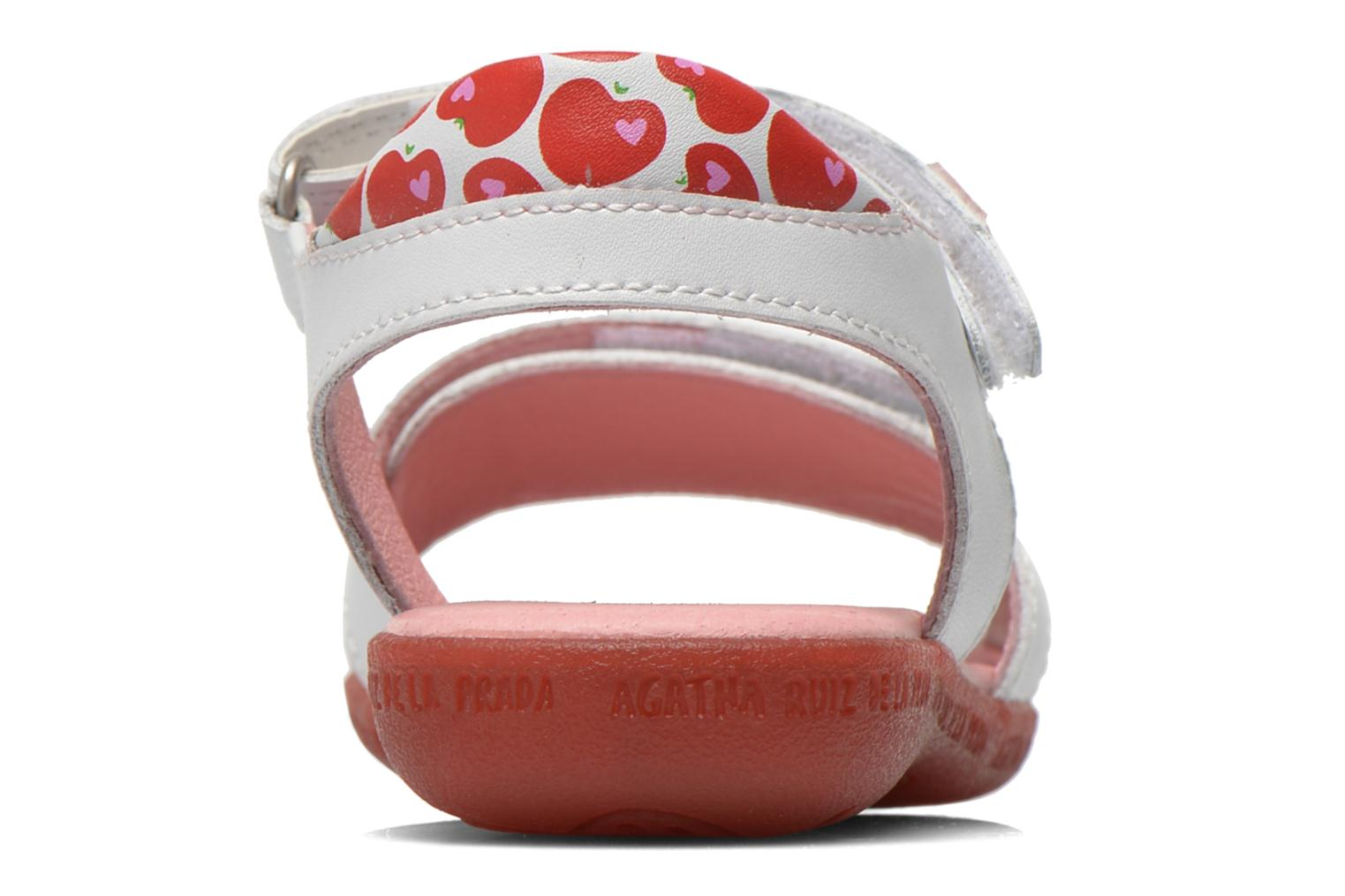 Sandals Agatha Ruiz de la Prada Ella V White view from the right