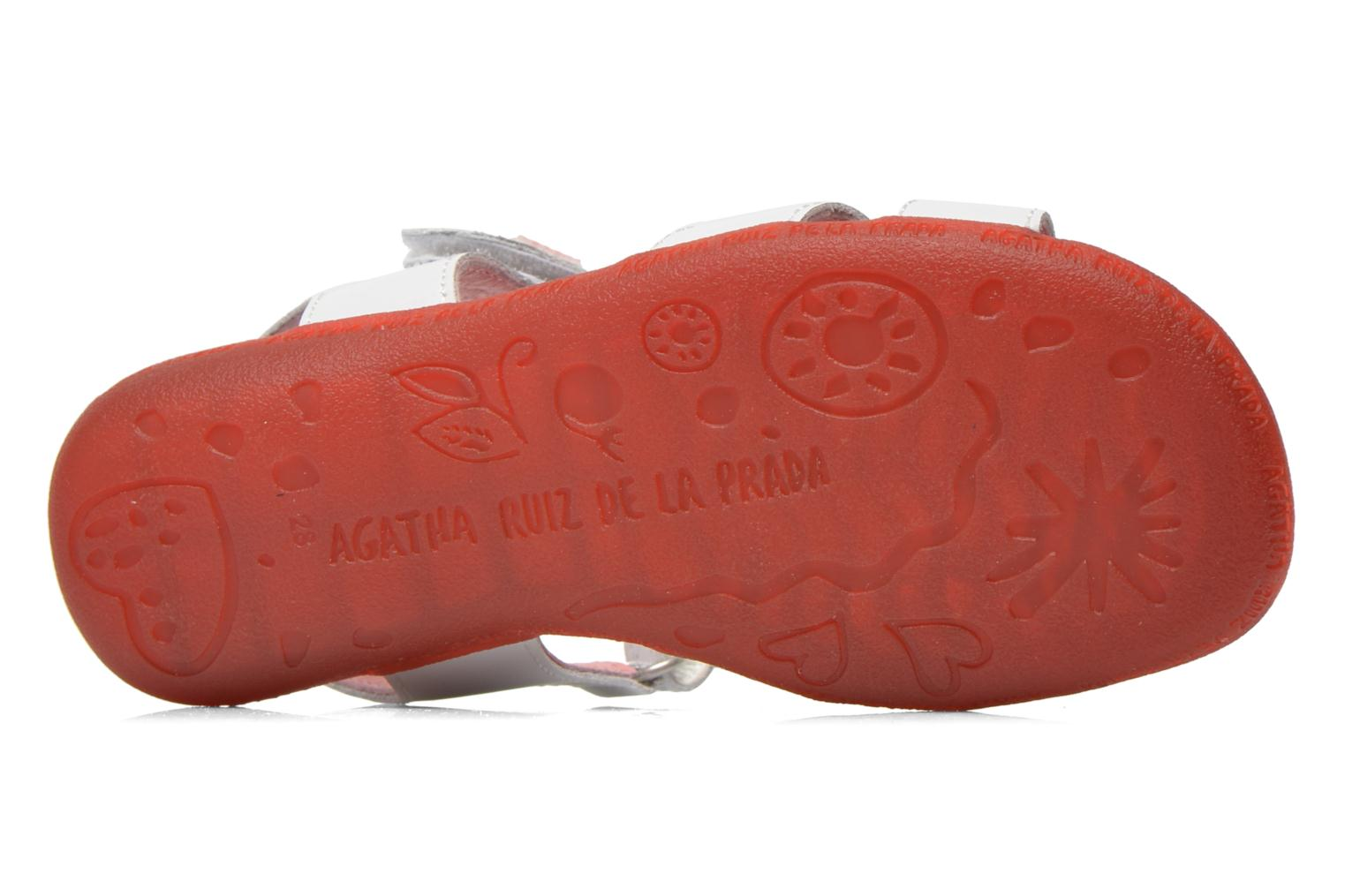 Sandals Agatha Ruiz de la Prada Ella V White view from above