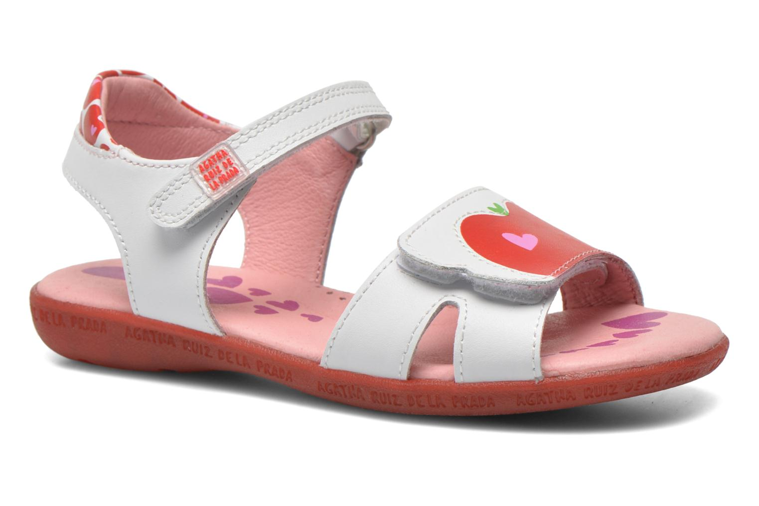 Sandals Agatha Ruiz de la Prada Ella V White detailed view/ Pair view
