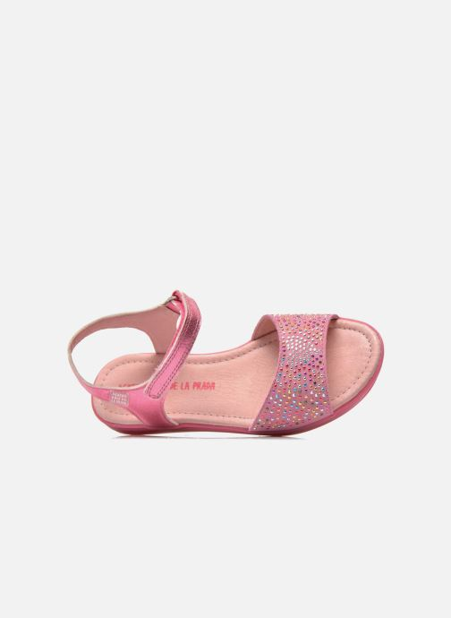 Sandals Agatha Ruiz de la Prada Diva Pink view from the left
