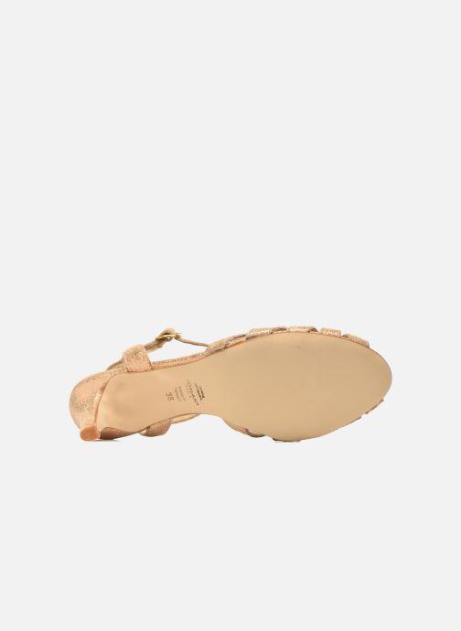 Sandalias Jonak Doliate Oro y bronce vista de arriba