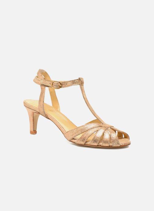 Sandales et nu-pieds Jonak Doliate Or et bronze vue détail/paire
