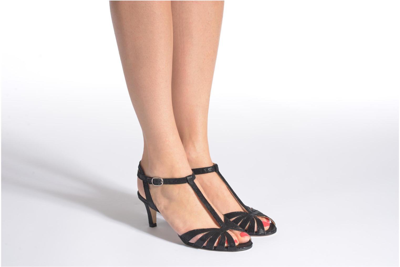 Sandales et nu-pieds Jonak Doliate Or et bronze vue bas / vue portée sac