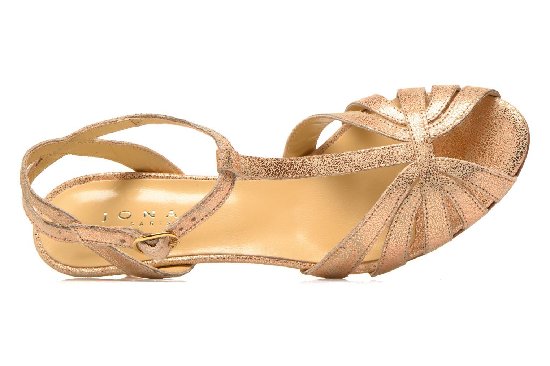 Sandales et nu-pieds Jonak Doliate Or et bronze vue gauche