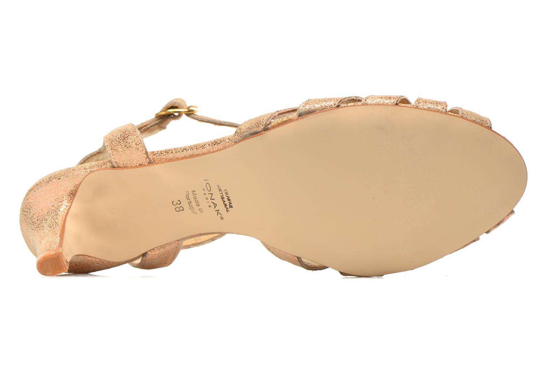 Sandales et nu-pieds Jonak Doliate Or et bronze vue haut