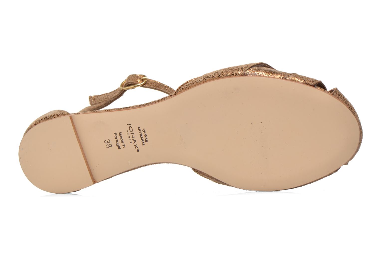 Sandales et nu-pieds Jonak Dowdies Or et bronze vue haut