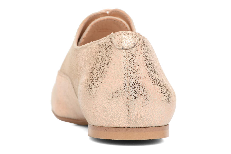 Chaussures à lacets Jonak 2534 Or et bronze vue droite