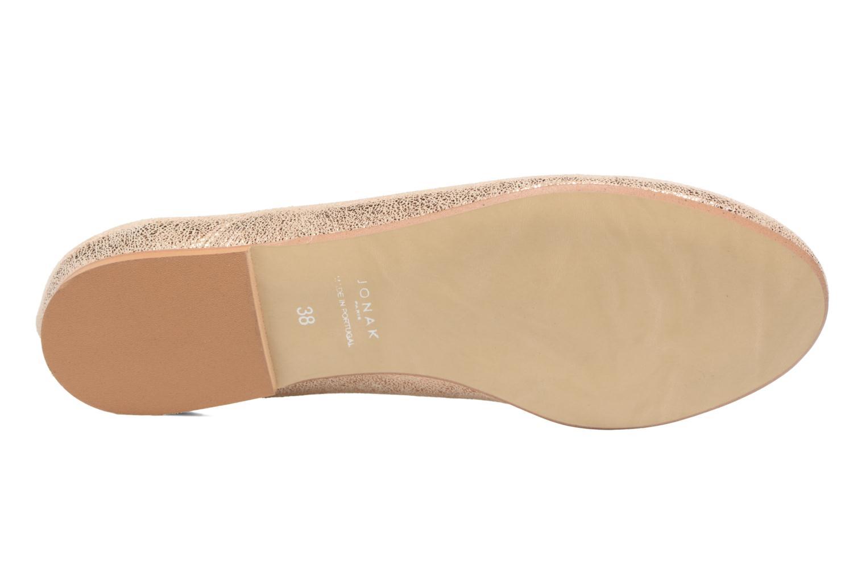 Chaussures à lacets Jonak 2534 Or et bronze vue haut