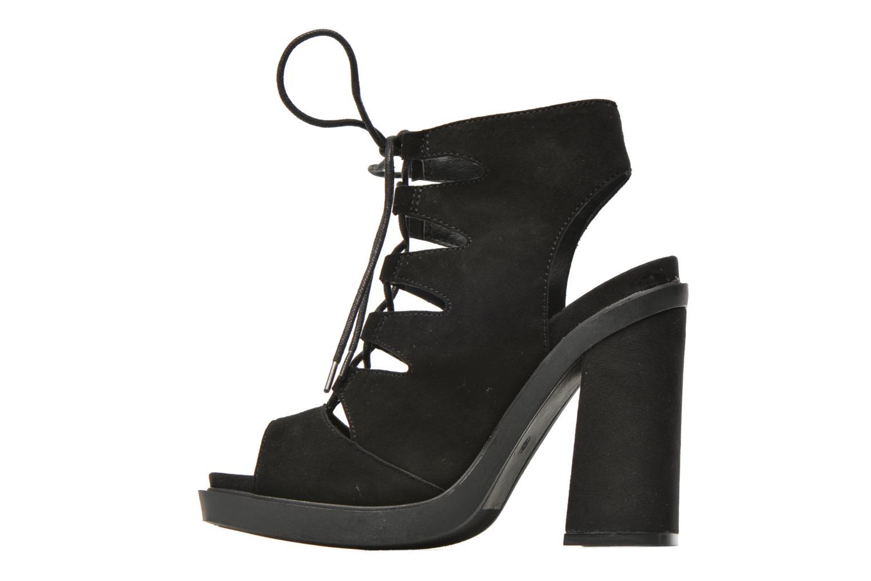 Sandales et nu-pieds Bronx Mila Noir vue face