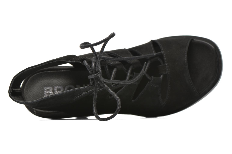Sandales et nu-pieds Bronx Mila Noir vue gauche