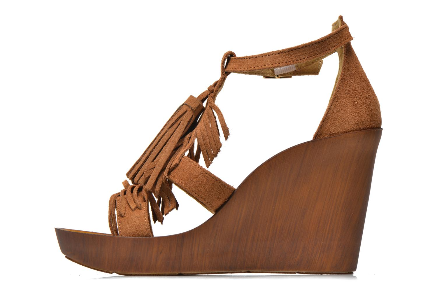 Sandals Bronx Banner Brown front view