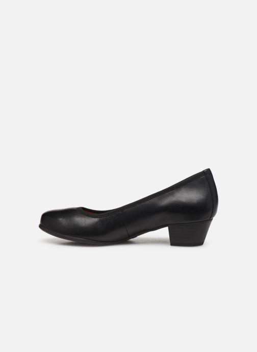 High heels Caprice Cristel Black front view