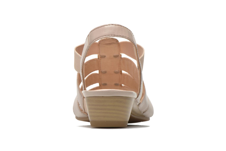 Sandales et nu-pieds Caprice Carla Beige vue droite