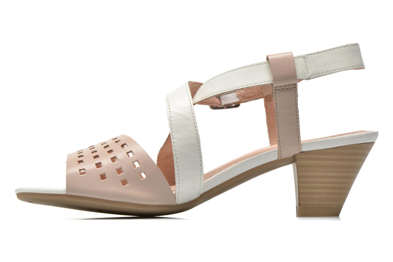 Sandales et nu-pieds Caprice Talia Beige vue face