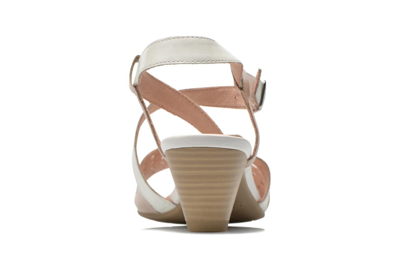 Sandales et nu-pieds Caprice Talia Beige vue droite