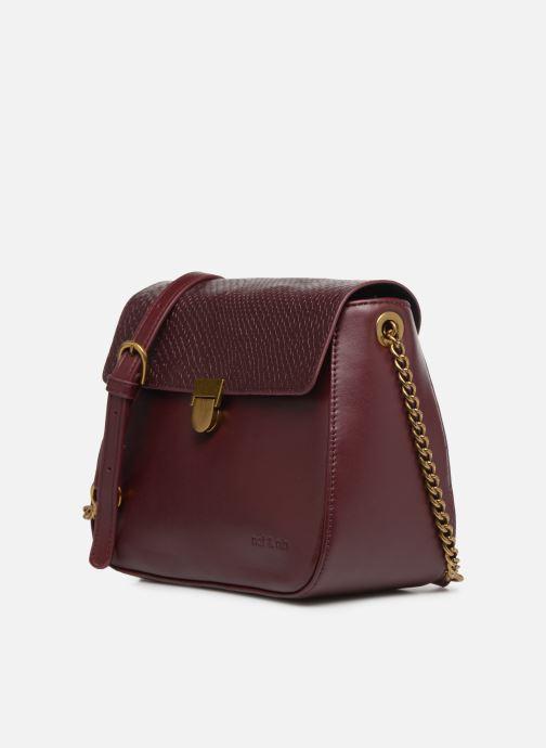 Handtaschen Nat & Nin Nova weinrot schuhe getragen