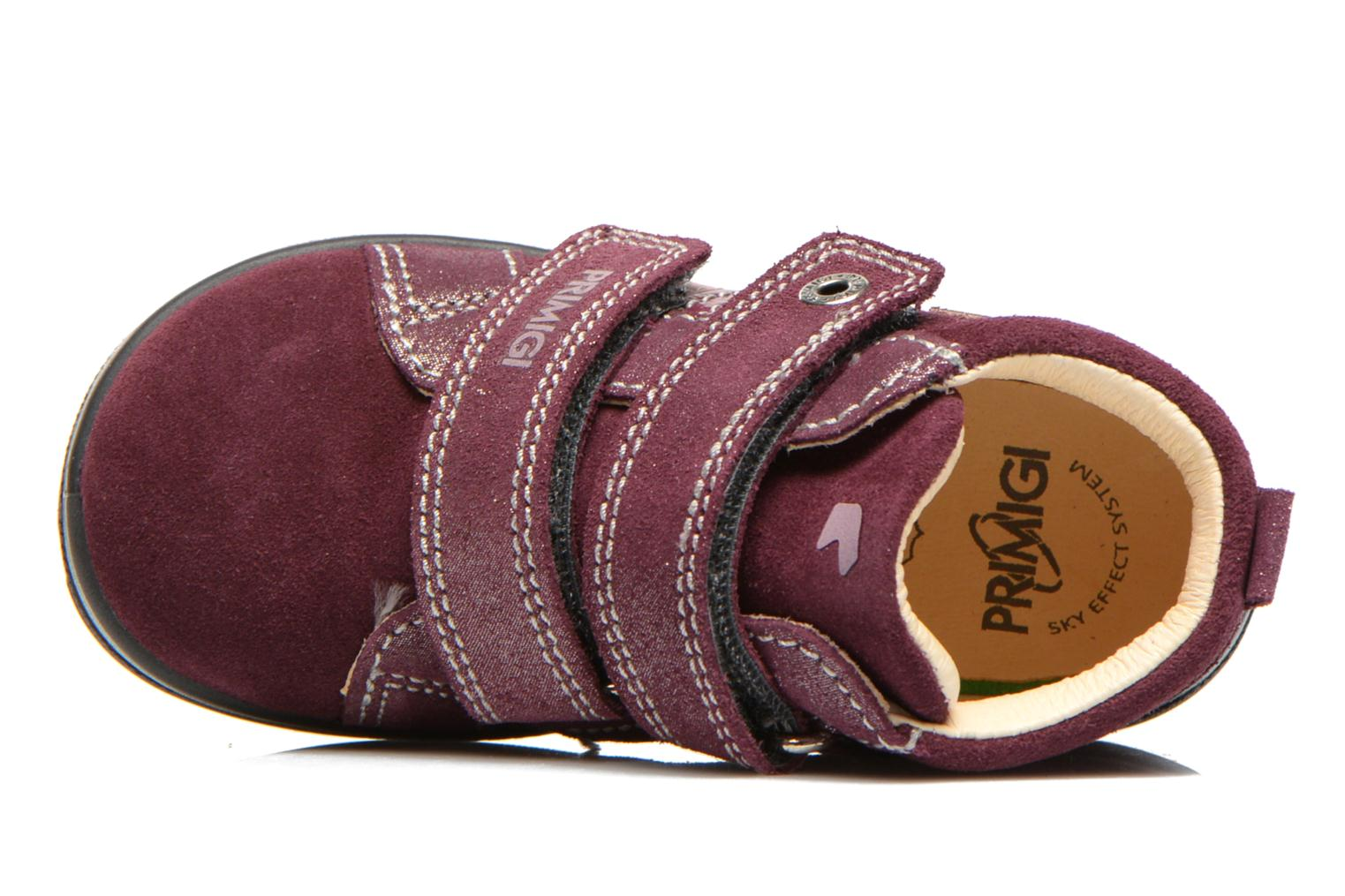 Velcro shoes Primigi Fiji Burgundy view from the left