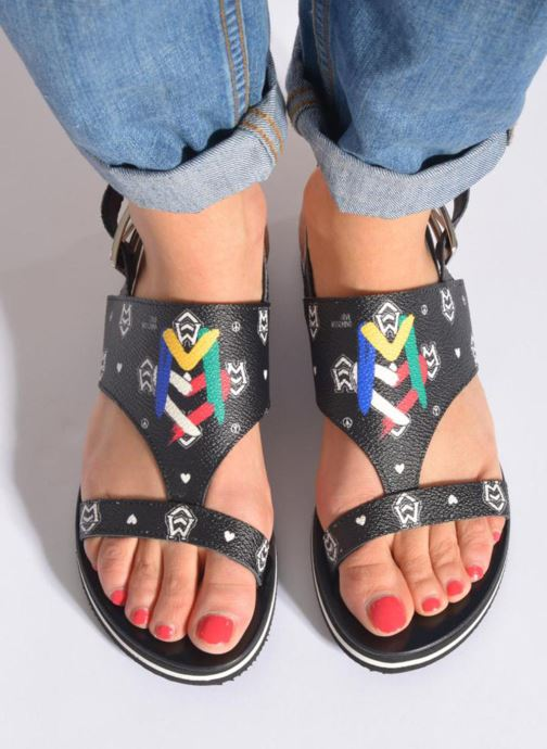 Sandals Love Moschino COLORBLOCKSANDALE Black view from underneath / model view