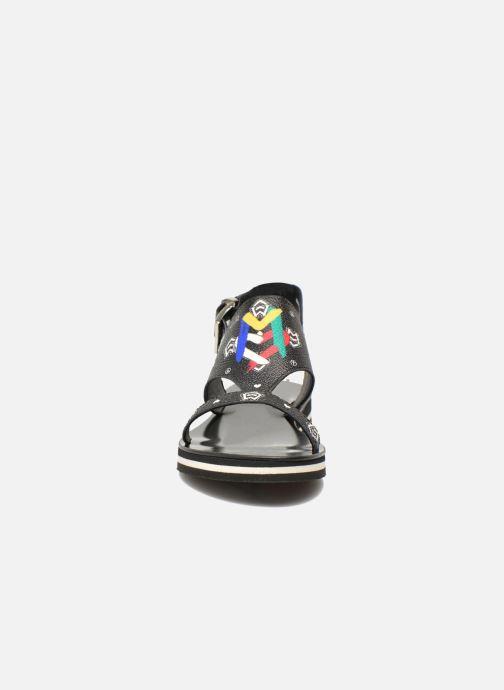 Sandals Love Moschino COLORBLOCKSANDALE Black model view