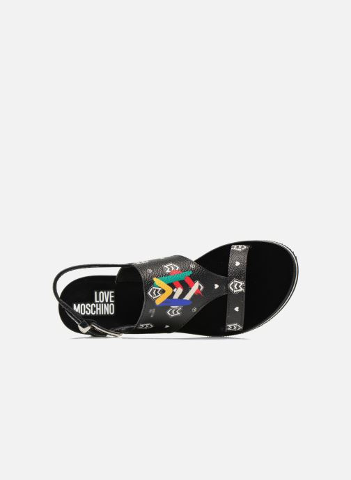 Sandals Love Moschino COLORBLOCKSANDALE Black view from the left