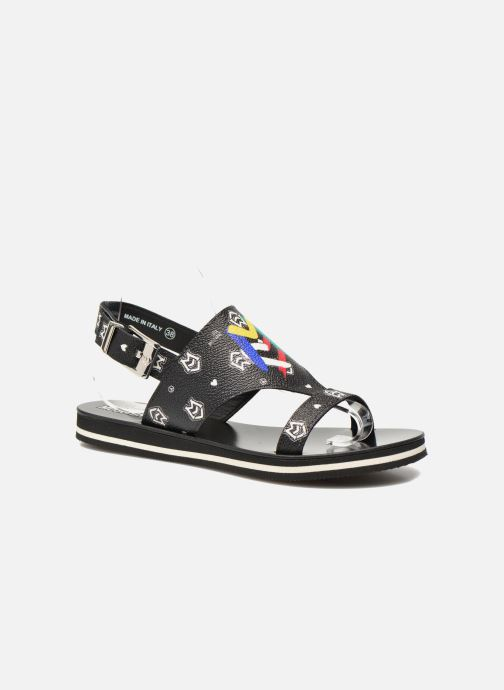 Sandals Love Moschino COLORBLOCKSANDALE Black detailed view/ Pair view