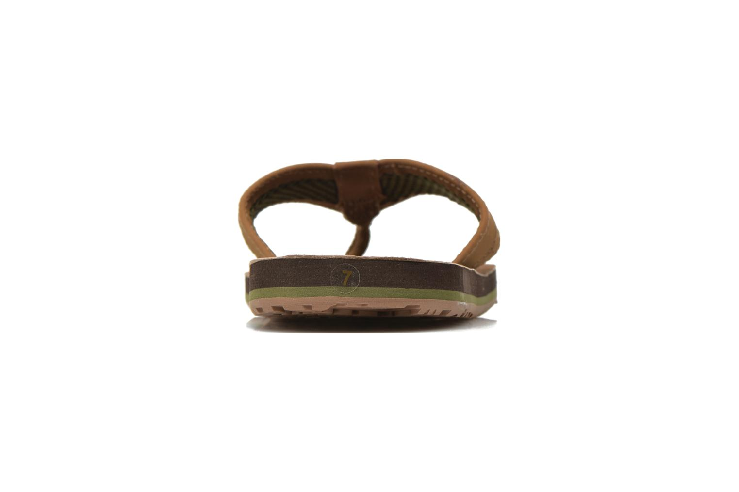 Chanclas Globe Base Marrón vista lateral derecha