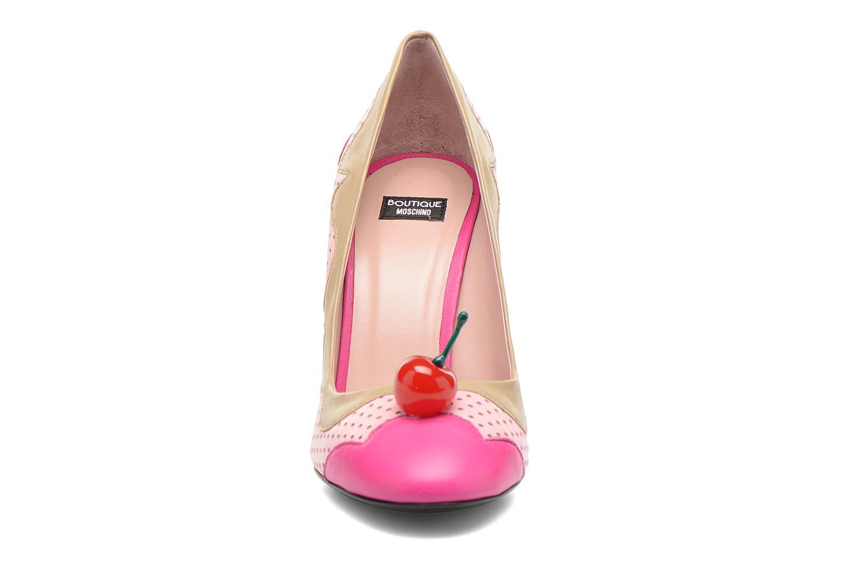 Escarpins Boutique Moschino Cherry stilleto Multicolore vue portées chaussures