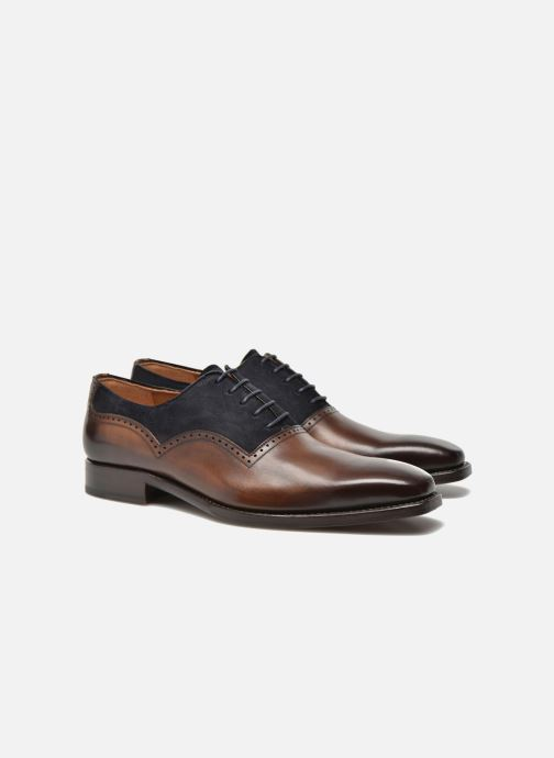 Chaussures à lacets Marvin&Co Luxe Welnaith- Cousu Goodyear Marron vue 3/4