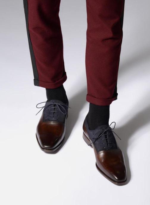 Chaussures à lacets Marvin&Co Luxe Welnaith- Cousu Goodyear Marron vue bas / vue portée sac