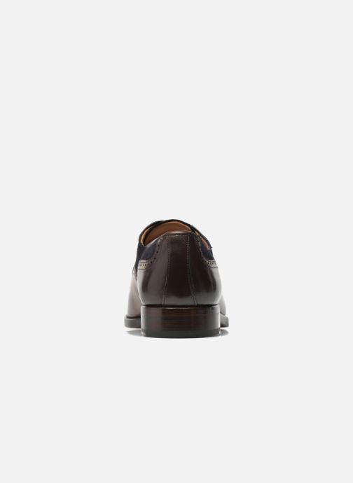 Chaussures à lacets Marvin&Co Luxe Welnaith- Cousu Goodyear Marron vue droite