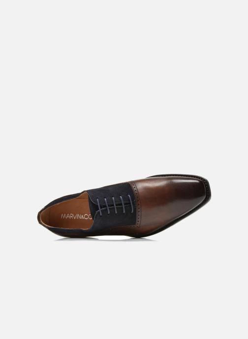 Chaussures à lacets Marvin&Co Luxe Welnaith- Cousu Goodyear Marron vue gauche