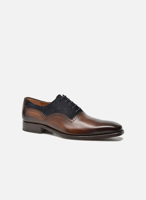 Lace-up shoes Marvin&Co Luxe Welnaith- Cousu Goodyear Brown detailed view/ Pair view