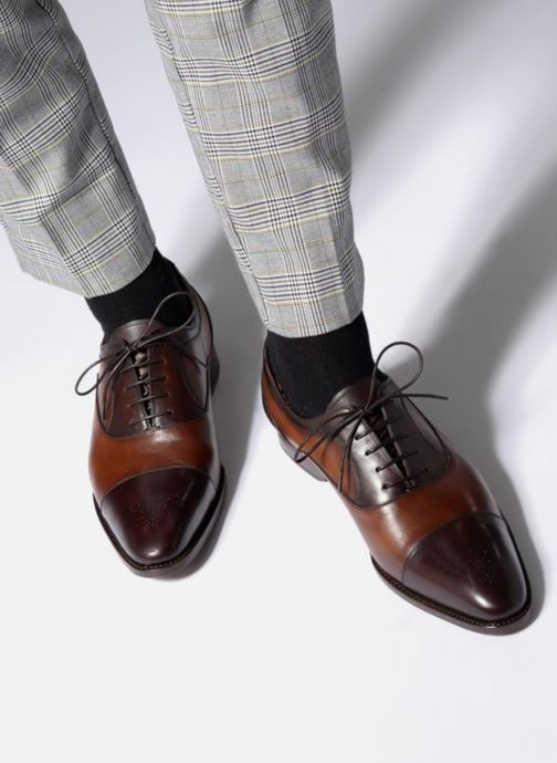 Chaussures à lacets Marvin&Co Luxe Wonried - Cousu Goodyear Marron vue bas / vue portée sac