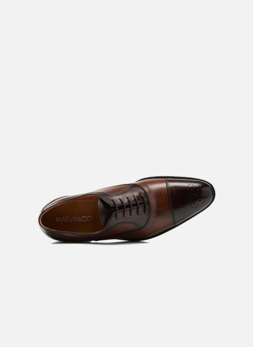 Zapatos con cordones Marvin&Co Luxe Wonried - Cousu Goodyear Marrón vista lateral izquierda