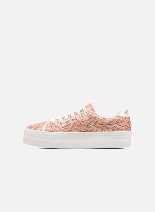Baskets No Name Plato Sneaker Square Rose vue face