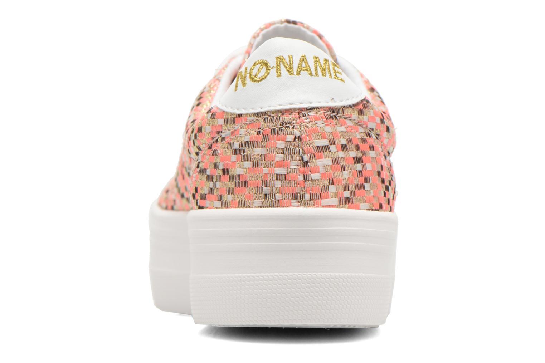 Baskets No Name Plato Sneaker Square Rose vue droite