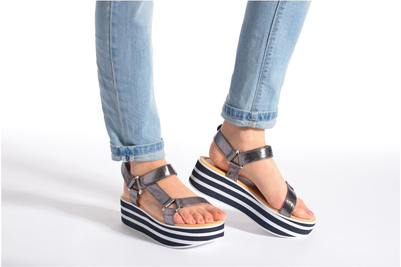 Sandales et nu-pieds No Name Bhama Sandal Argent vue bas / vue portée sac