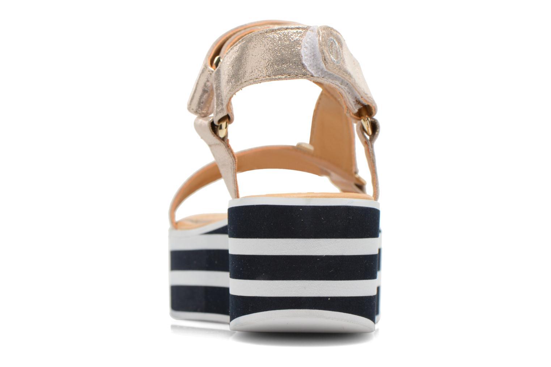 Sandales et nu-pieds No Name Bhama Sandal Or et bronze vue droite