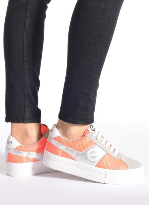 Trainers No Name Shake Print Astro Micro Suede Multicolor view from underneath / model view
